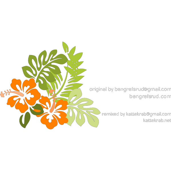 Orange Hibiscus PNG Clip art