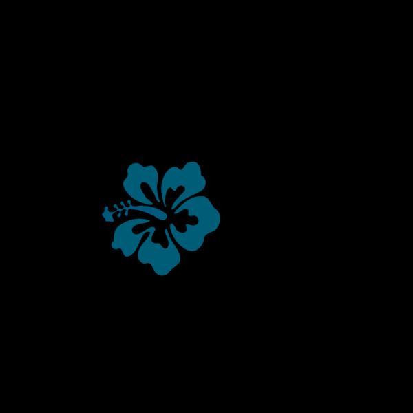 Hibiscus Teal PNG Clip art