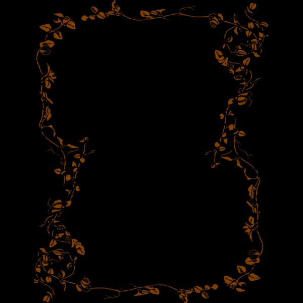 Large Floral Border PNG Clip art