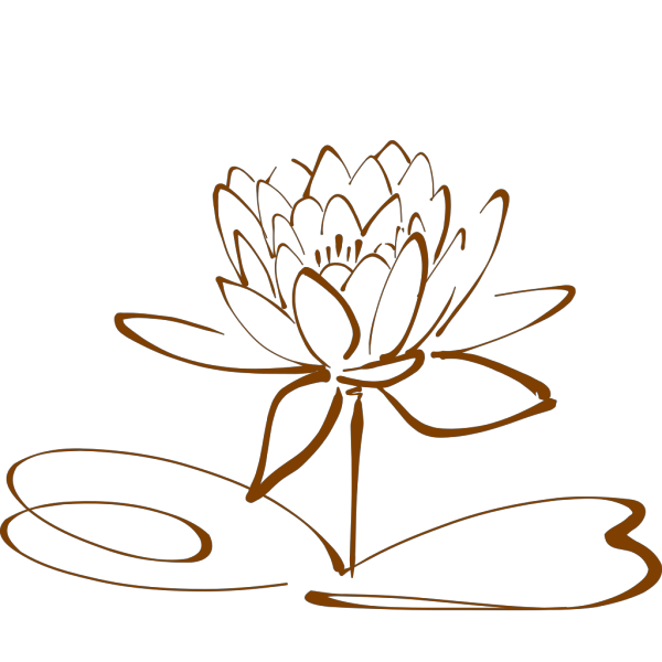 Lotus Flower - Mocha PNG Clip art