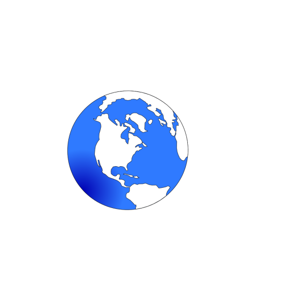Globe White And Blue PNG Clip art