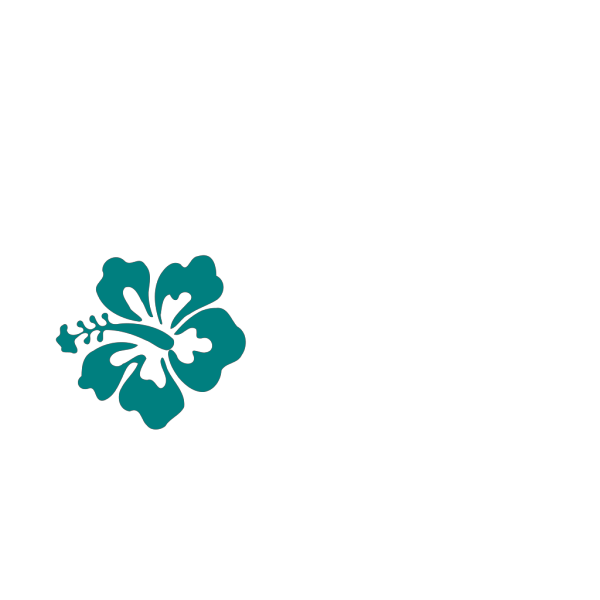Teal Hibiscus PNG Clip art