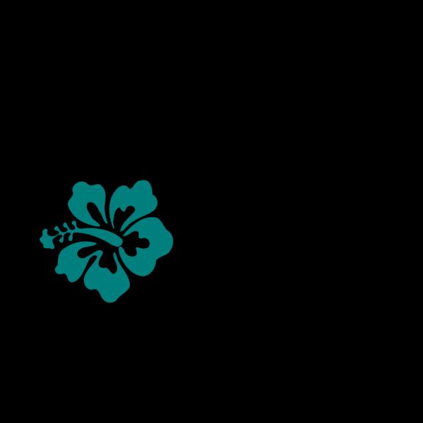 Teal Hibiscus PNG Clip art