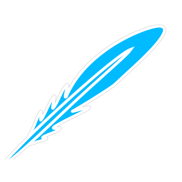 Feather Blue White PNG Clip art
