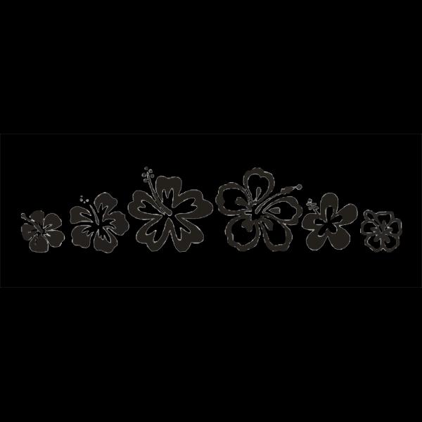 Hibiscus Border PNG Clip art