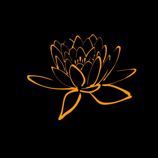 Ff9900 Lotus PNG Clip art
