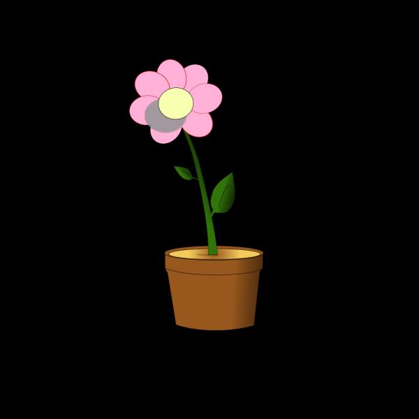 Pink Flower In Pot PNG Clip art