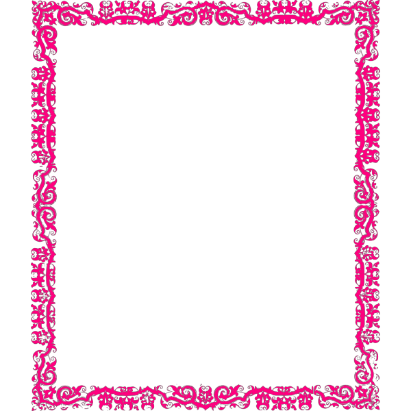 Decorative Pink Border PNG icons