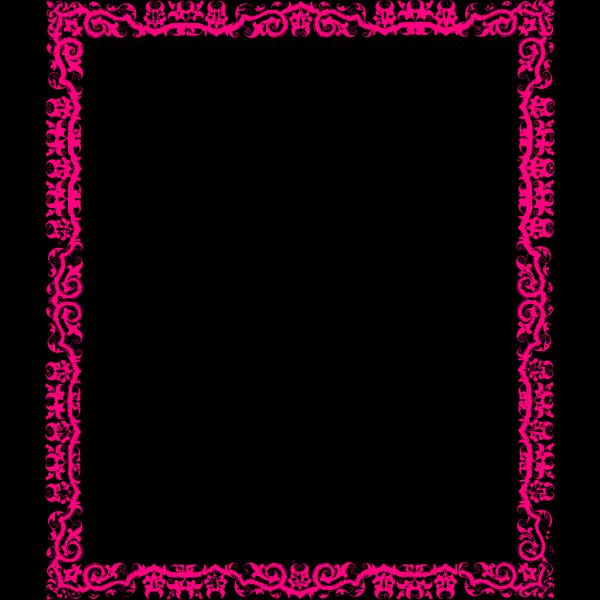 Decorative Pink Border PNG Clip art