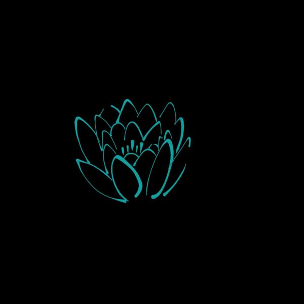 12 Petal Teal Lotus PNG Clip art