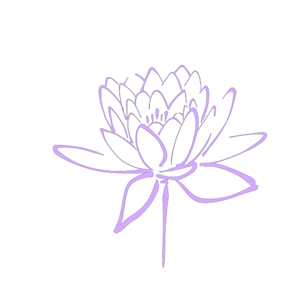 Purple Flower Haily PNG Clip art