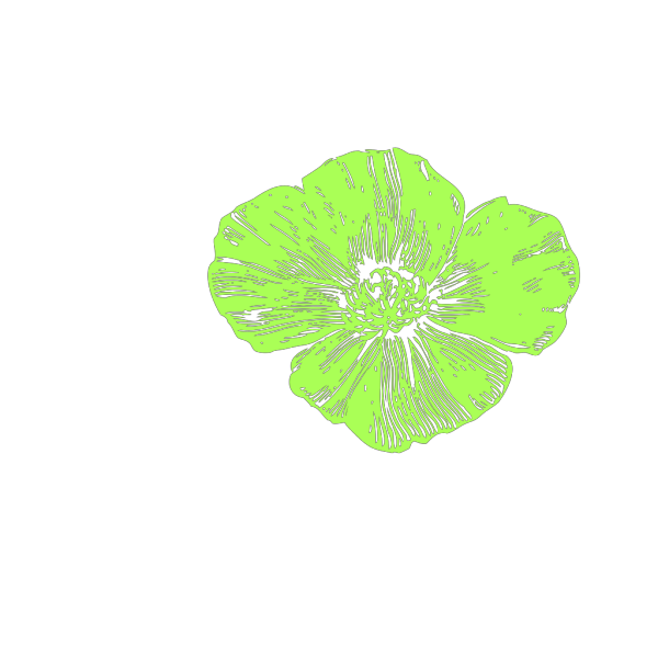 Green Poppies PNG Clip art