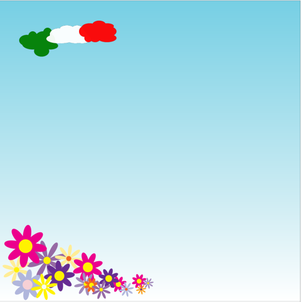 Italian Clouds Background PNG Clip art
