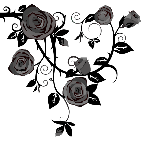 Gray Roses No Background PNG Clip art