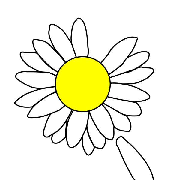 Daisy With Dropped Petal PNG Clip art