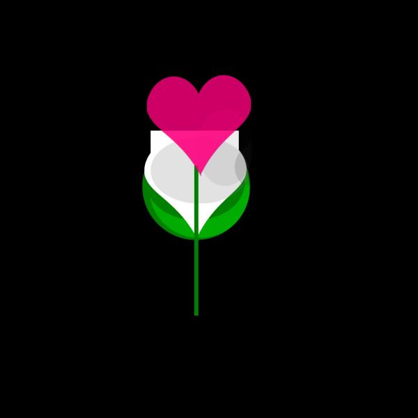 Heart Flower PNG Clip art