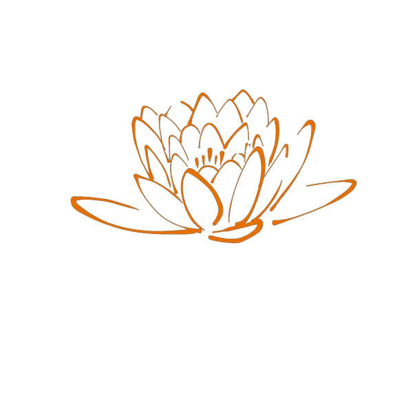 Orange Lotus PNG Clip art