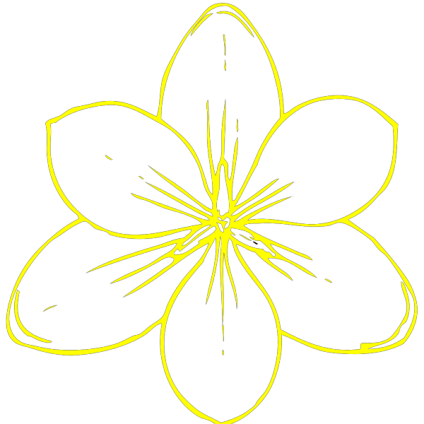 Yellow Flower 35 PNG Clip art