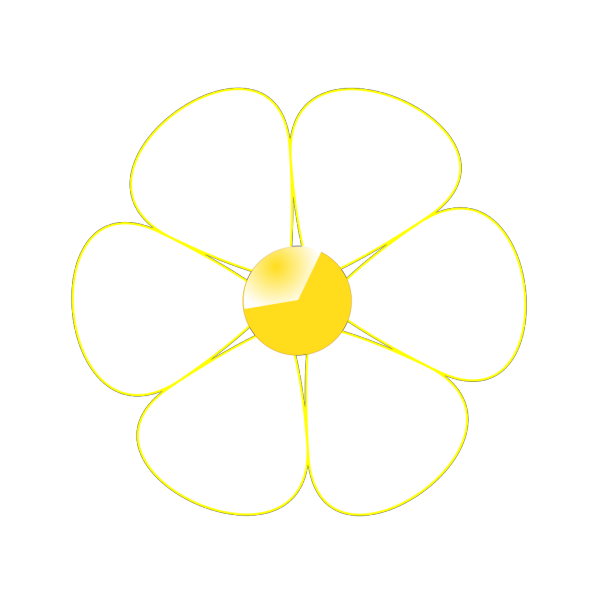 White Flower Yellow Middle PNG Clip art