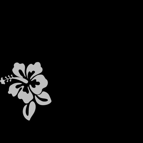 Hibiscus Grey PNG Clip art