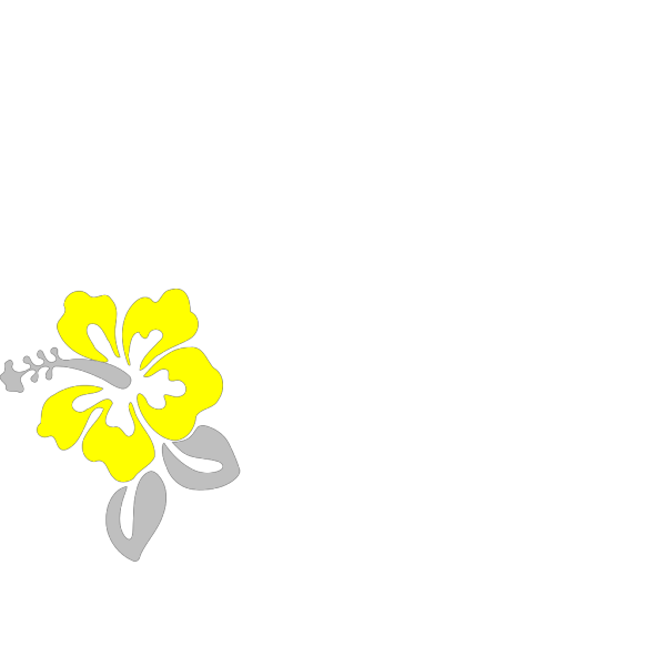 Hibiscus Grey And Yellow PNG Clip art