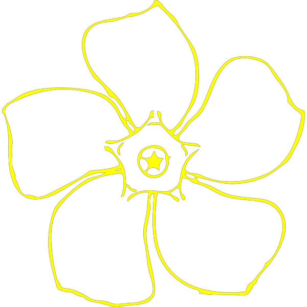 Yellow Periwinkle PNG Clip art