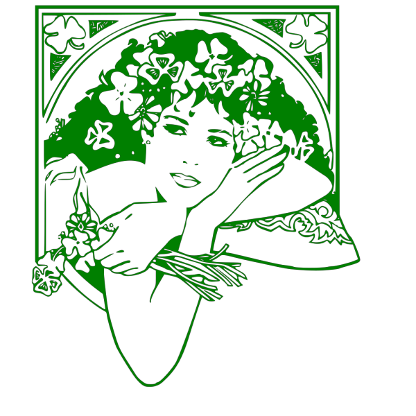 Woman With Flowers PNG Clip art