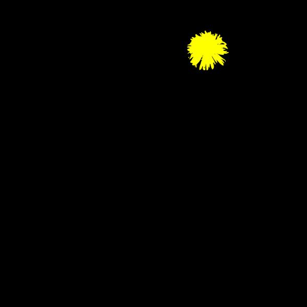 Yellow Dandelion PNG Clip art