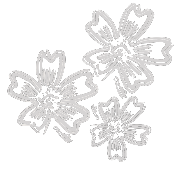 Silver Flowers PNG Clip art