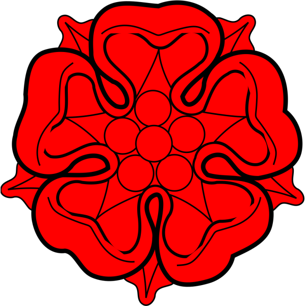 Red Flower Heraldric PNG Clip art
