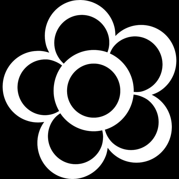 Black White Flower PNG Clip art