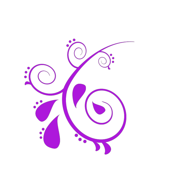 Dark Purple Paisley Flower PNG Clip art