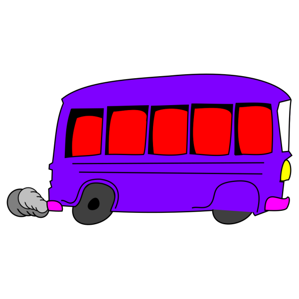 Purple Busy Lizzie PNG Clip art