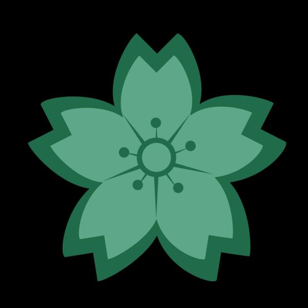Teal Sakura PNG Clip art