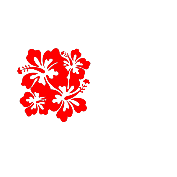 Hibiscus Red Browns PNG Clip art