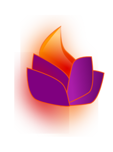 Flaming Lotus PNG Clip art