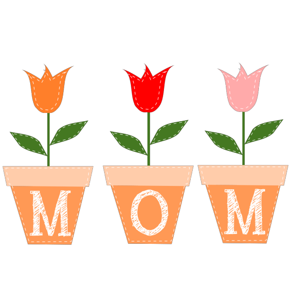 Mom Tulips PNG Clip art
