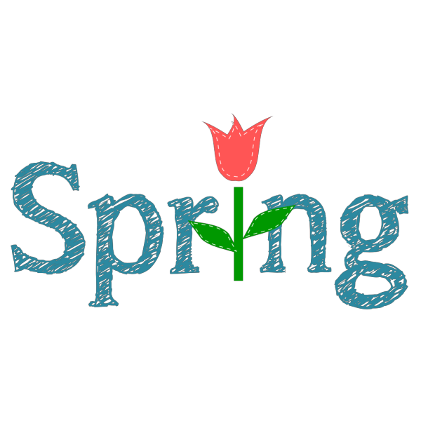 Spring With Tulip PNG Clip art