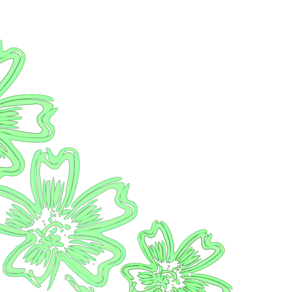 Lighter Green Flowers PNG Clip art