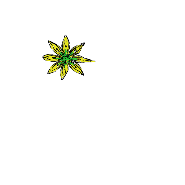Yellow Green Flower PNG Clip art