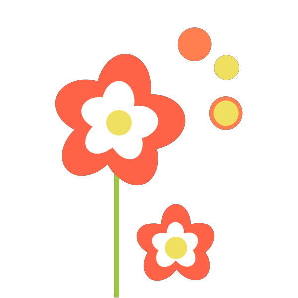 Coral Flower PNG Clip art