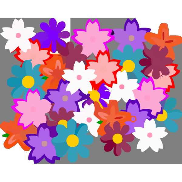 Flower Collage PNG Clip art