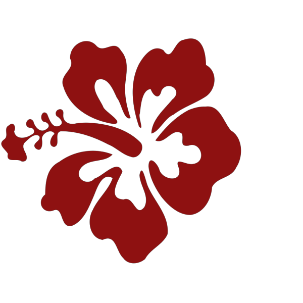 Hibiscus Flower Red PNG Clip art