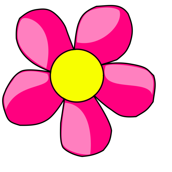Hot Pink Flower PNG Clip art