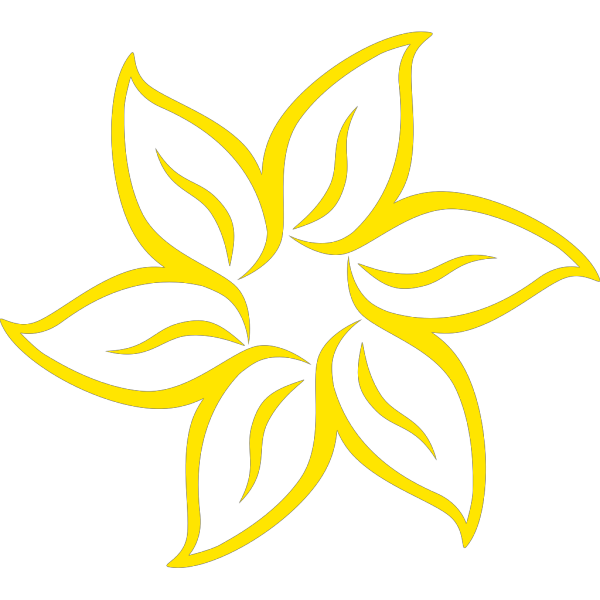 Yellowish Flower PNG Clip art