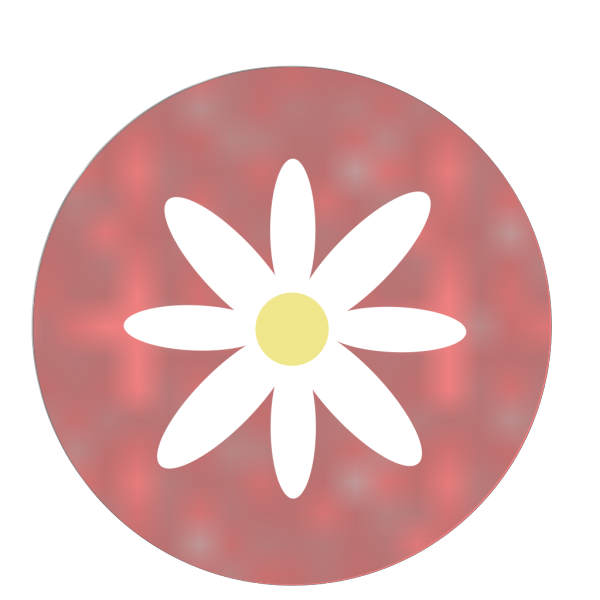 Daisy With Polka Dots Coral PNG Clip art