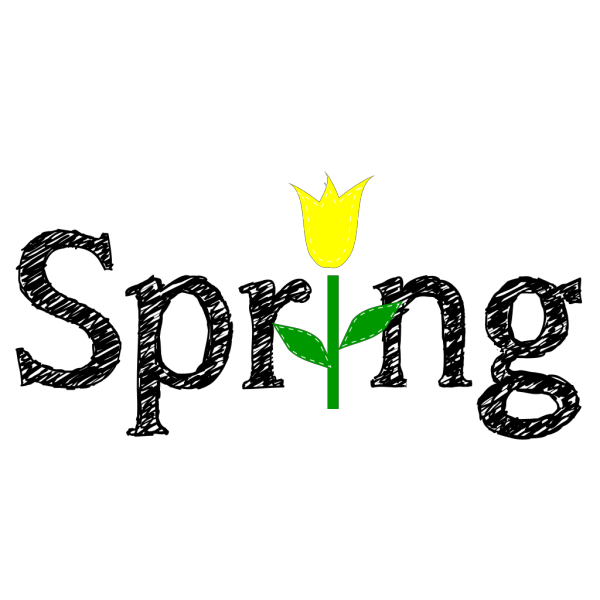 Spring With Yellow Tulip PNG Clip art