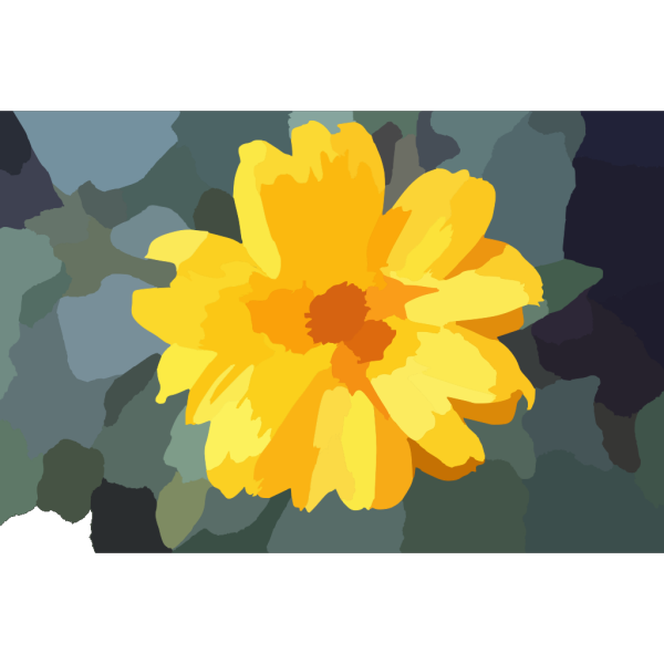 Abstract Yellow Flower PNG Clip art
