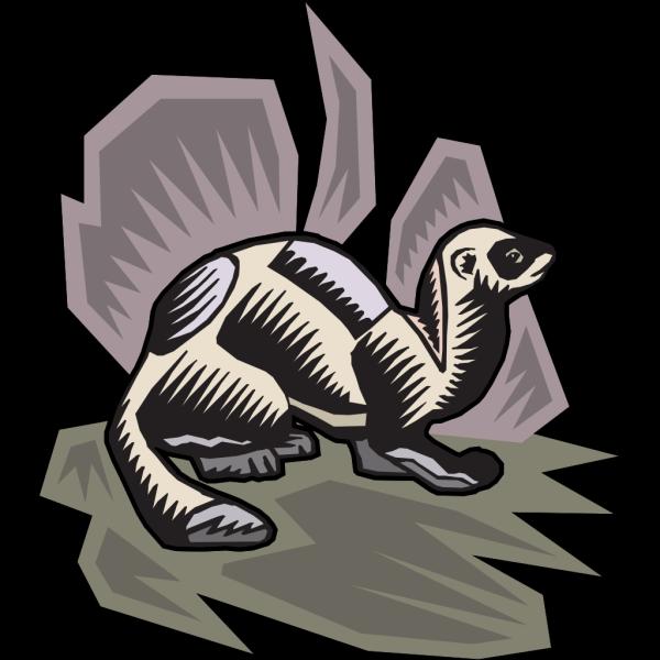 Stylized Mink PNG Clip art
