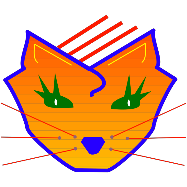 Digital Cat Face Art PNG images